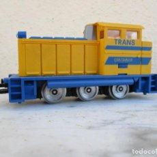Trenes Escala: IBERTREN TRACTOR AMARILLO TRANSCONTAINER. Lote 197063681