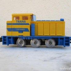 Trenes Escala: IBERTREN TRACTOR AMARILLO TRANSCONTAINER 2. Lote 197063702