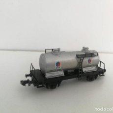 Trenes Escala: ANTIGUO VAGON CISTERNA CORTA DE ELF - PARA GASOLINA - IBERTREN - 2 EJES - ESCALA N -. Lote 288016673