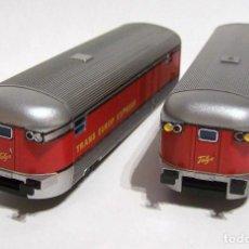Trenes Escala: IBERTREN. DOS FURGONES TALGO ESCALA H0 1/87. DE SEGUNDA MANO.. Lote 204120638