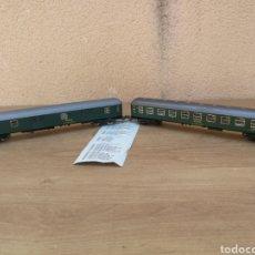 Trenes Escala: VAGONES GRAN CALIDAD ESCALA HO H0 MARCA IBERTREN VAGÓN RENFE PASAJEROS Y CARGA BARCELONA MADRID. Lote 204589128