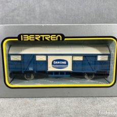 Trenes Escala: VAGÓN DE MERCANCÍAS CERRADO 2 EJES - IBERTREN - REF: 2375 - DANONE. Lote 205074441