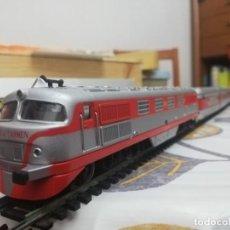 Trenes Escala: LOCOMOTORA TALGO 3 IBERTEREN Y VAGONES ELECTROTREN TALGO. Lote 206399048