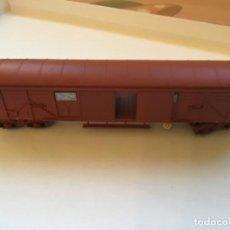 Trenes Escala: IBERTREN H0. VAGÓN MERCANCÍAS CERRADO. PRECIOSO. LAS PUERTAS SE ABREN.. Lote 214862068