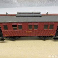Trenes Escala: IBERTREN VAGÓN MZA MATARÓ ESCALA H0. Lote 221661773