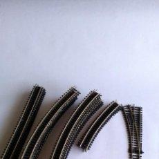 Trenes Escala: NUEVA IBERTREN H0 , LOTE DE VÍAS, CURVAS,RECTAS Y DESVÍOS. BACHMANN. Lote 222156812