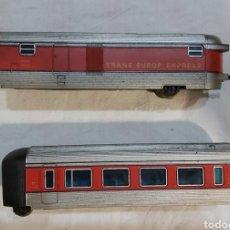 Trains Échelle: 2 VAGONES IBERTREN TALGO RENFE TRANS EUROPE EXPRESS RT212-02 / RT201-17. Lote 224512116