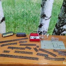 Trenes Escala: LOTE DE PIEZAS Y VAGONES IBERTREN. Lote 236591890