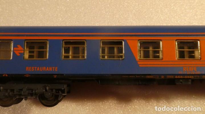 Trenes Escala: VAGON RESTAURANTE NUEVA IMAGEN RENFE CON LUZ IBERTREN H0 REF. 2214 - Foto 5 - 241996195