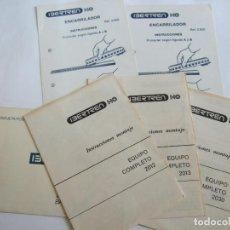 Comboios Escala: IBERTREN - INSTRUCCIONES MONTAJE MODELO 2012 - 2013 - 2030 - ENCARRILADOR 2.600. Lote 247102805