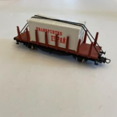 Trenes Escala: IBERTREN. HO. TELERO CON CONTENEDOR. Lote 254785015