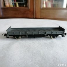 Trenes Escala: ELECTROTREN H0 VAGÓN CERRADO MARRÓN RENFE PERFECTO ESTADO. Lote 276119758