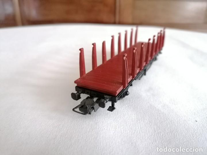 Trenes Escala: Ibertren H0 Vagón de Mercancías con Estacas Renfe Perfecto Estado - Foto 2 - 287619753