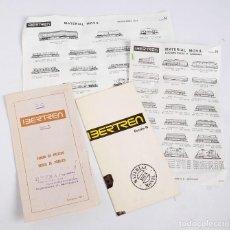 Trenes Escala: CATÁLOGO DE IBERTREN, LISTA DE PRECIOS, HOJAS DE NOVEDADES. 1971 Y 1973. Lote 287627943