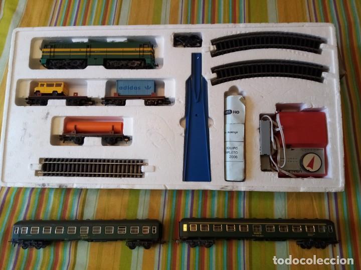 TREN DE LA E.HO. DE IBERTREN .CAJA COMPLETA MD.2006 +2 VAGONES DE PASAGEROS (Juguetes - Trenes a Escala - Ibertren H0)
