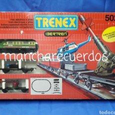 Trenes Escala: TRENEX IBERTREN 5024 TREN ELECTRICO A PILAS MODEL-IBER 1990 EXIN LINES BROS S.A. HELICOPTERO MISIL. Lote 288582483