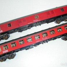 Trenes Escala: ANTIGUA PAREJA DE VAGONES DSB IBERTREN ESCALA H0. Lote 291589833