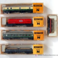 Trenes Escala: LOTE DE 5 VAGONES IBERTREN ESCALA N.. Lote 26471064
