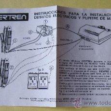 Trenes Escala: IBERTREN ORIGINAL N: INSTRUCCIONES PARA LA INSTALACION DE DESVIOS ELECTRICOS Y PUPITRE DE MANDOS. Lote 72071185