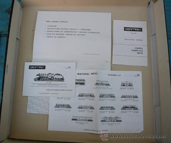 Trenes Escala: ANTIGUA CAJA IBERTREN COMPLETA - 301 - ESCALA 3N - LOCOMOTORA CON 5 VAGONES - INCLUYE EL TRASNFORMAD - Foto 7 - 28956558