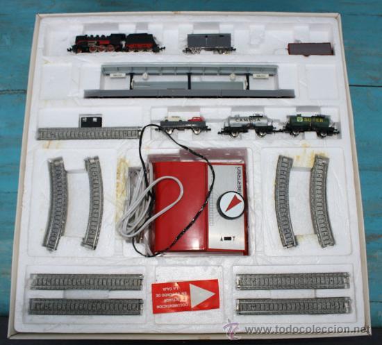 Trenes Escala: ANTIGUA CAJA IBERTREN COMPLETA - 301 - ESCALA 3N - LOCOMOTORA CON 5 VAGONES - INCLUYE EL TRASNFORMAD - Foto 8 - 28956558