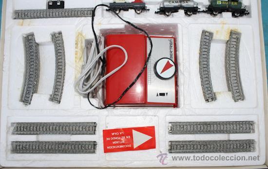 Trenes Escala: ANTIGUA CAJA IBERTREN COMPLETA - 301 - ESCALA 3N - LOCOMOTORA CON 5 VAGONES - INCLUYE EL TRASNFORMAD - Foto 9 - 28956558