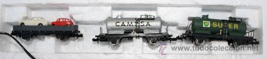 Trenes Escala: ANTIGUA CAJA IBERTREN COMPLETA - 301 - ESCALA 3N - LOCOMOTORA CON 5 VAGONES - INCLUYE EL TRASNFORMAD - Foto 10 - 28956558