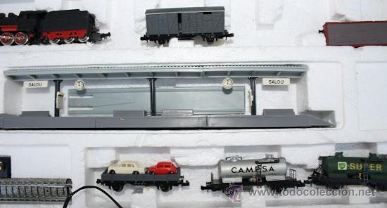 Trenes Escala: ANTIGUA CAJA IBERTREN COMPLETA - 301 - ESCALA 3N - LOCOMOTORA CON 5 VAGONES - INCLUYE EL TRASNFORMAD - Foto 11 - 28956558