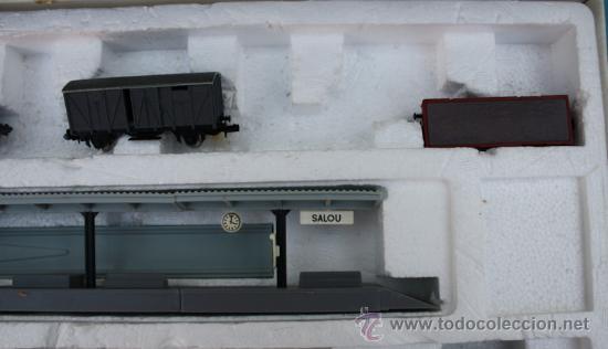 Trenes Escala: ANTIGUA CAJA IBERTREN COMPLETA - 301 - ESCALA 3N - LOCOMOTORA CON 5 VAGONES - INCLUYE EL TRASNFORMAD - Foto 12 - 28956558