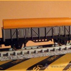 Trenes Escala: VAGÓN BORDE MEDIO CON TUBOS. Lote 32050376
