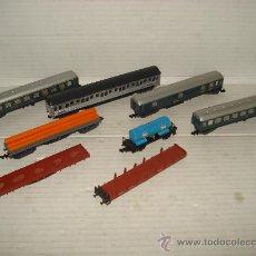 Trenes Escala: ANTIGUO LOTE DE COCHES Y VAGONES EN ESCALA *N* DE IBERTREN . . Lote 36725300