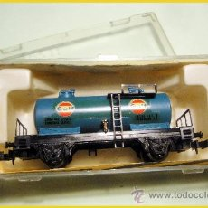 Trenes Escala: IBERTREN. CISTERNA DE 2 EJES GULF. Lote 37807463