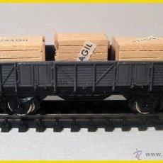 Trenes Escala: VAGÓN BORDE MEDIO CON CAJAS. IBERTREN. Lote 40434013