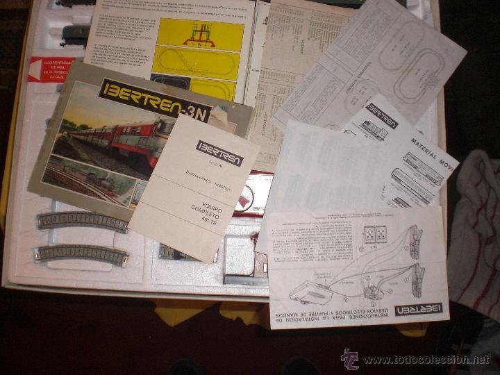 Trenes Escala: IBERTREN 3N REFERENCIA 401 CON VIAS DE BALASTRO , TREN ANTIGUO, JUGUETE ANTIGUO - Foto 7 - 40770447