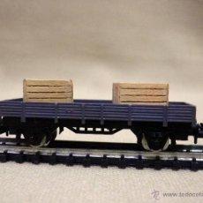 Trenes Escala - VAGON DE CARGA, ESCALA N, FABRICADO POR IBERTREN, PLATAFORMA, CAJAS MADERA - 89248744