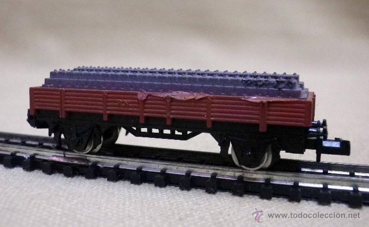 Trenes Escala: VAGON DE CARGA, ESCALA N, FABRICADO POR IBERTREN, PLATAFORMA, VIAS - Foto 3 - 43558950