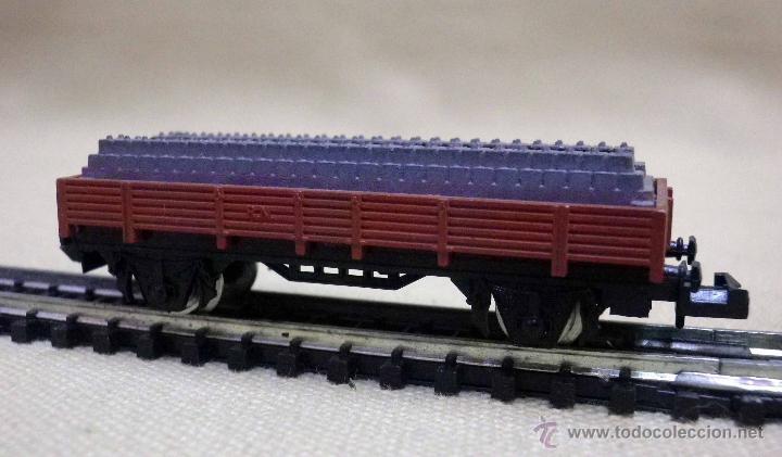 Trenes Escala: VAGON DE CARGA, ESCALA N, FABRICADO POR IBERTREN, PLATAFORMA, VIAS - Foto 4 - 43558950