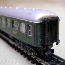 Trenes Escala: VAGON DE PASAJEROS, DE 2ª, RENFE, ESCALA N, FABRICADO POR IBERTREN, BIS. Lote 43575771