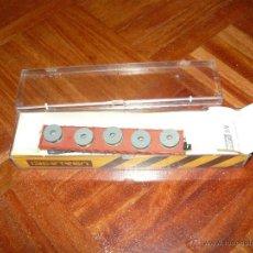 Trenes Escala: IBERTREN VAGON PORTA BOBINAS EN CAJA ESCALA N ORIGINAL MUY BUEN ESTADO DIRECTA TIENDA UN 10. Lote 45747700