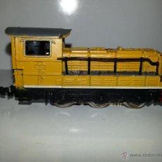 Trenes Escala: IBERTREN : LOCOMOTORA AMARILLA ELECTRICA REF. 020 DIESEL MANIOBRAS S.N.C.F. 61006 ESCALA N AÑOS 80. Lote 127480283