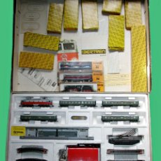 Trenes Escala: LOTE IBERTREN 141 COMPLETO. ADEMÁS INCLUYE 2 LOCOMOTORAS Y ACCESORIOS. Lote 24494919