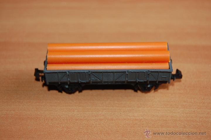 Trenes Escala: IBERTREN VAGON CARGA TUBOS ESCALA N - Foto 2 - 49414621
