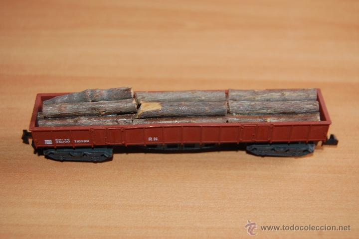 Trenes Escala: IBERTREN VAGON CARGA TRONCOS MADERA ESCALA N - Foto 2 - 49414718