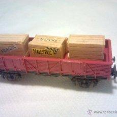 Trenes Escala: IBERTREN N. VAGÓN BORDE BAJO CAJAS FRAGIL Y SCALEXTRIC, MUY BUEN ESTADO. Lote 52907942
