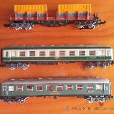 Trenes Escala: IBERTREN ESCALA N AÑOS 80. LOTE DE TRES VAGONES REF.439, 217, 201. Lote 53848953