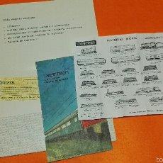 Trenes Escala: CARPETA IBERTREN CON NUMERO DE CONTROL, PARTE DE UN CATALOGO Y FOLLETO CON TRENES. Lote 54347472