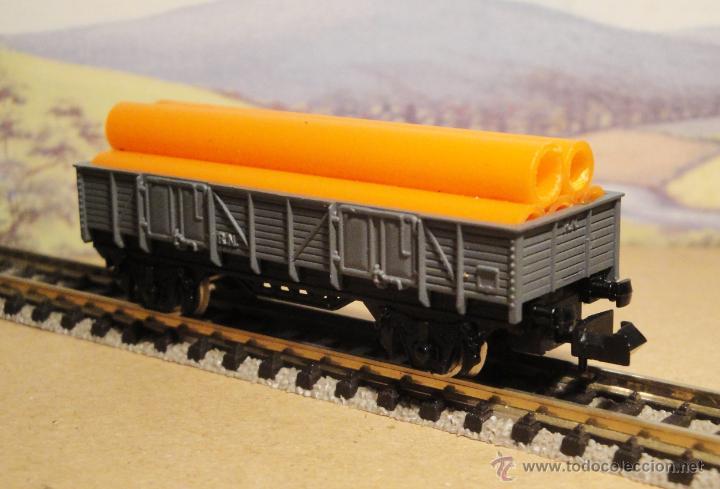 Trenes Escala: Vagón borde medio con tubos. De Ibertren - Foto 3 - 55063098