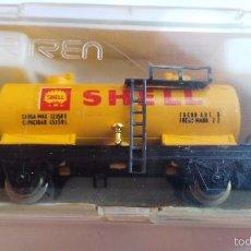 Trenes Escala: VAGON DE IBERTREN ESCALA N REF: 352 SHELL. Lote 55402325