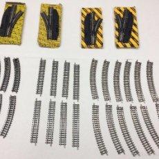Trenes Escala: CAMBIOS DE VÍAS MANUALES Y VIAS ESCALA N IBERTREN. Lote 57143920