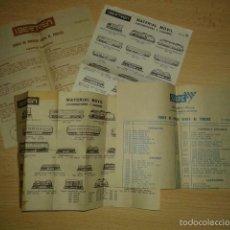 Trenes Escala: DOCUMENTACION IBERTREN Y SCALEXTRIC AÑOS 70S. Lote 58113183